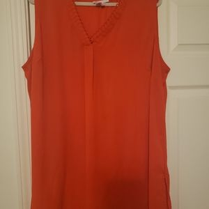 DR2 Sleeveless Orange Top